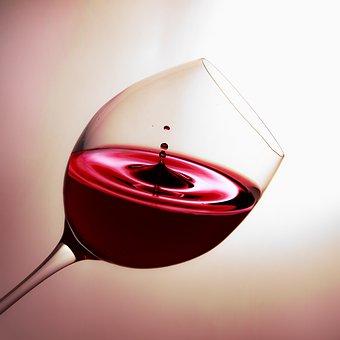Vetro, Vino, Gocciolamento, Vino Rosso